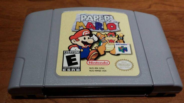 Paper Mario Nintendo 64 n64 video game, paper Mario n64, paper mario, paper mario rpg, Nintendo 64 paper mario, n64 video game - pinned by pin4etsy.com