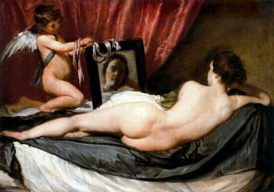 The Rokeby Venus by Diego Velasquez •