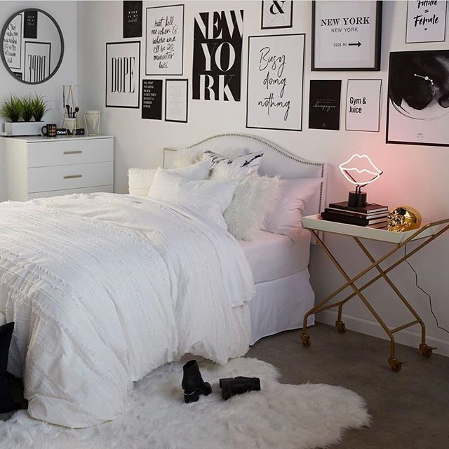 Black And White Bedroom Decor Neon Dormdecor Prints Black And White Bedroom Teenager White Bedroom Decor Neon Bedroom