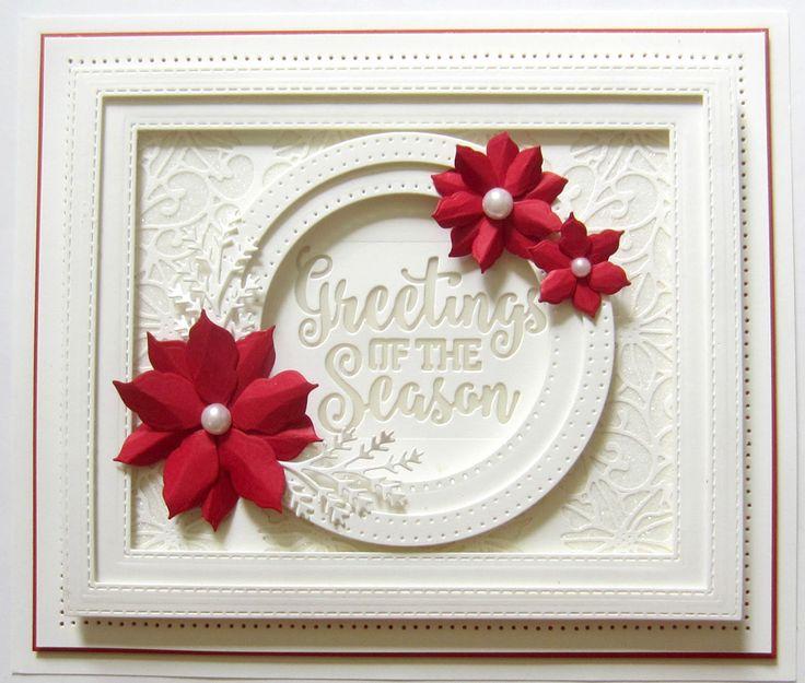 Sue Wilson Dies -Festive Collection - Poinsettia Mini Background