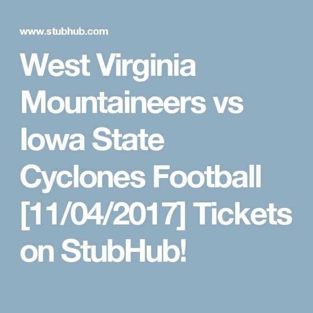 West Virginia Mountaineers vs Iowa State Cyclones Football [11/04/2017] Tickets on StubHub!