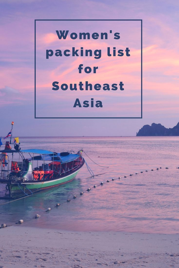Not sure what to pack when you backpack Southeast Asia? This packing list will help. Tips for packing light and more. Travel Tips.