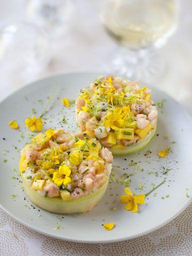 Recette Tartare saumon crevettes et mangue