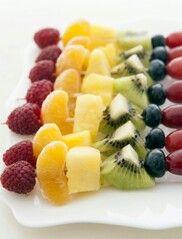 Gezonde fruitspiesjes