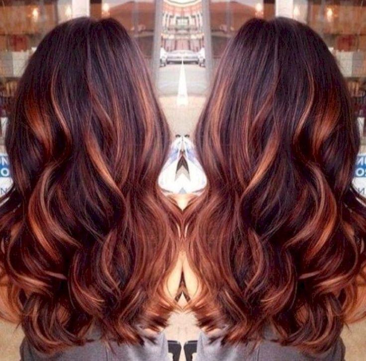 awesome 48 Dark Auburn Hair Color Hairstyles https://attirepin.com/2018/02/08/48-dark-auburn-hair-color-hairstyles/