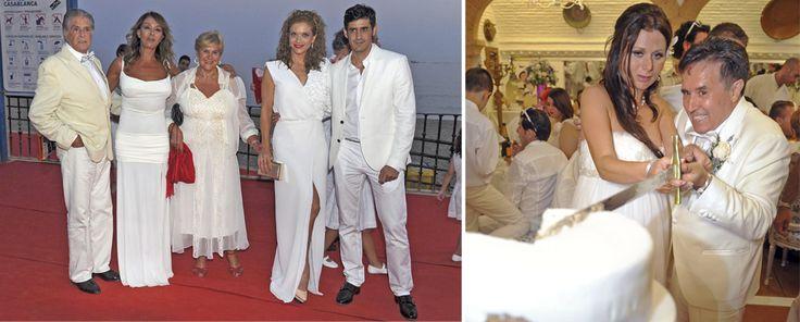 Carmen Bazán, Víctor Janeiro y Beatriz Trapote asisten a la boda de Ramón Mesa en Marbella