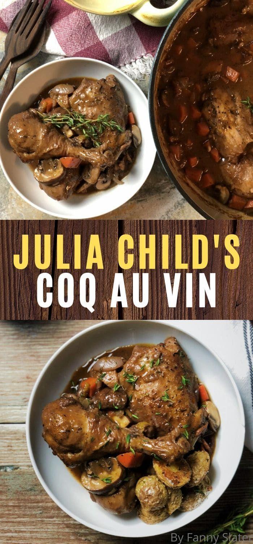 Julia Child S Coq Au Vin Chef S Recipe Recipe Coq Au Vin Recipes Stuffed Peppers