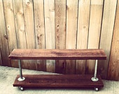 """Industrial Garment Rack (42"""")- As Seen In Country Living Magazine. $240.00, via Etsy."""