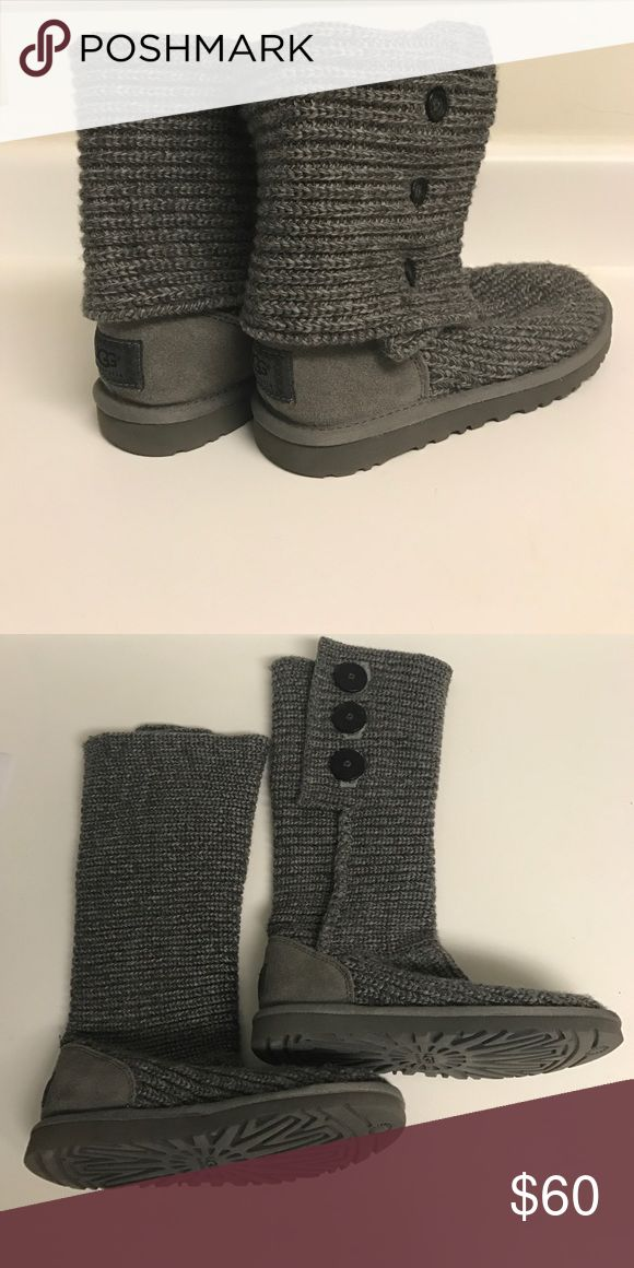 UGG Cardy boots, size 6 I have only worn these two or three times, so there's no wear--still in perfect condition. Size 6, fitting anywhere up to a 7.5 (my usual size). Let me know if you have any questions! UGG Shoes Winter & Rain Boots
