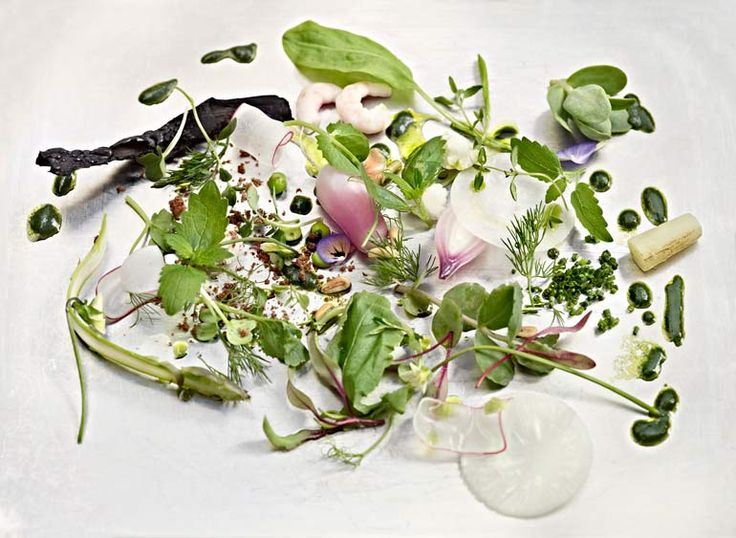 Helsinki, FINLAND: Restaurant Olo is a Michelin Star rated restaurant where fresh and pure, high-quality ingredients are combined to create modern Scandinavian cuisine.