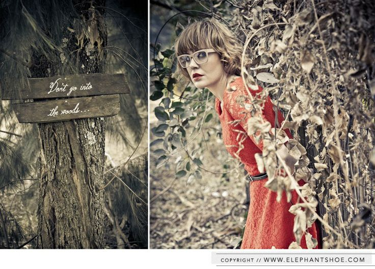 Red Riding Hood - into the woods engagement shoot styled by Elephantshoe and photographed by Blackframe photography