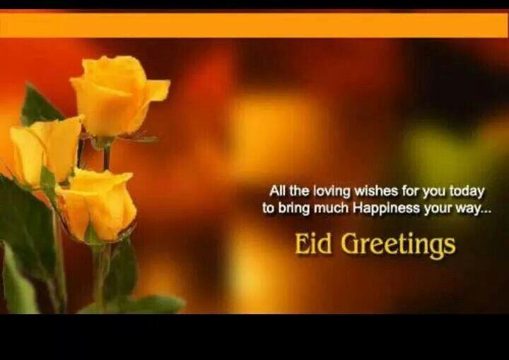 Eid mubarok.