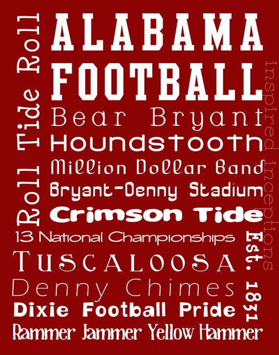 all about Alabama football: Tide Rolls, Football Seasons, Bama Girls, Subway Art, Alabama Football, Colleges Football, Alabama Crimson Tide, Rolls Tide, Art Posters