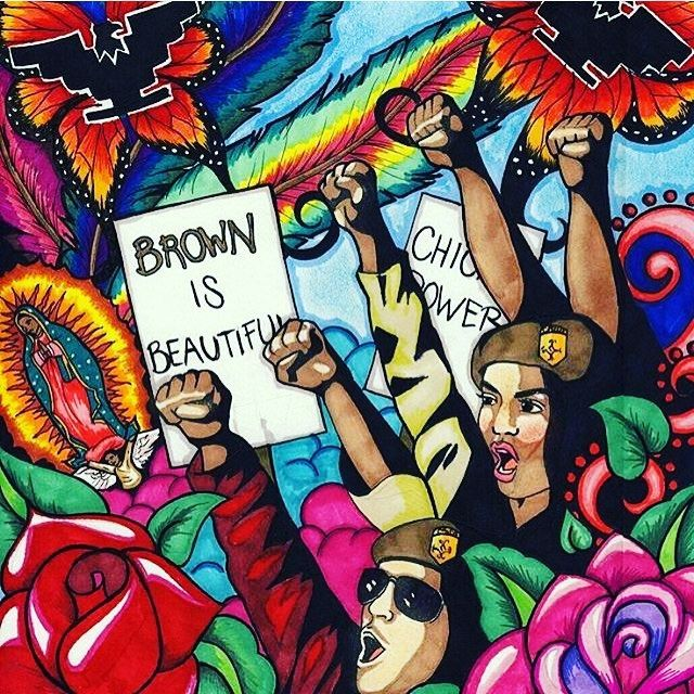 Keep The Revolution Alive ✊ #BrownBerets #ChicanoPower #BrownIsBeautiful #DownForTheCause #FuckTheSystem #FistUp #NeverBeSilent #FightBack #KnowledgeIsPower #BrownPride #BarrioArt