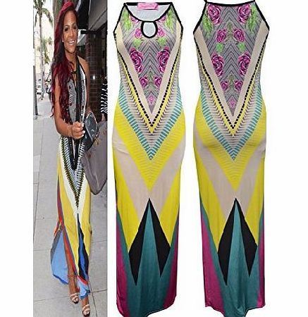 Fashion Mark - Womens Sleeveless Celebrity Inspired Aztec Tribal Colorful Midi Maxi Dress - Size 8-14 (SM (8-10), Womens Sleeveless Celebrity Inspired Aztec Tribal Colorful Midi Maxi Dress,Ladies Sleeveless tribal colors panels Party Maxi,95% Polyester 5% Elastane,Approximate (Barcode EAN = 0650905333798) http://www.comparestoreprices.co.uk//fashion-mark--womens-sleeveless-celebrity-inspired-aztec-tribal-colorful-midi-maxi-dress--size-8-14-sm-8-10-.asp