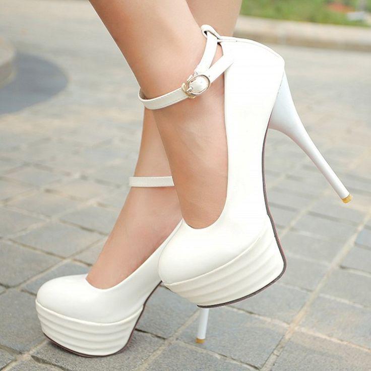 Meotina High Heels Women Shoes White Bridal Shoes Sexy Ultra High Heels Night Club Woman Platform Heels Ladies Pumps Big Size 42