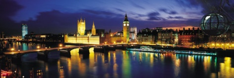 Night, London, England, United Kingdom Photographic Print  (This would be awesome above my bed!)