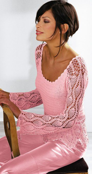 Rajzos mintával crochet sweater