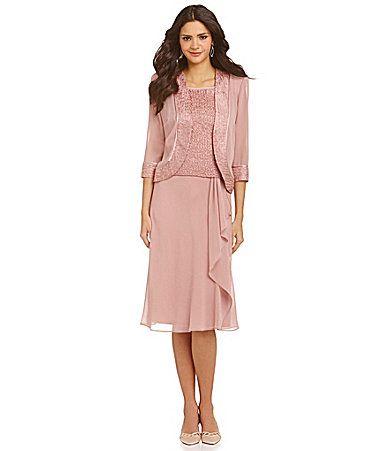 Le Bos 3-Piece Pebble Georgette Skirt Set #Dillards