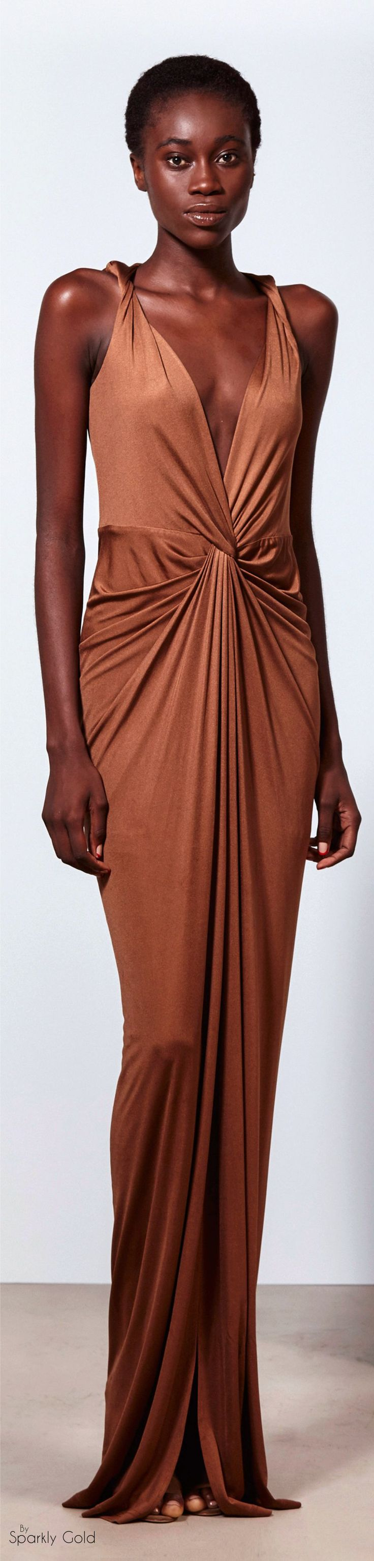 Veronica Beard Spring 2016 RTW camel maxi dress women fashion outfit clothing style apparel @roressclothes closet ideas