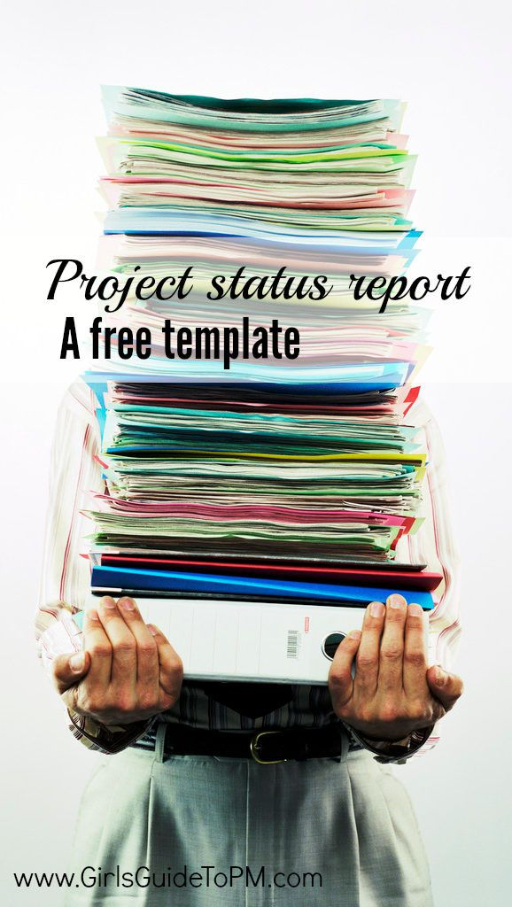 Get a free status report template to easily tell your manager what progress you have made #projectmanagement