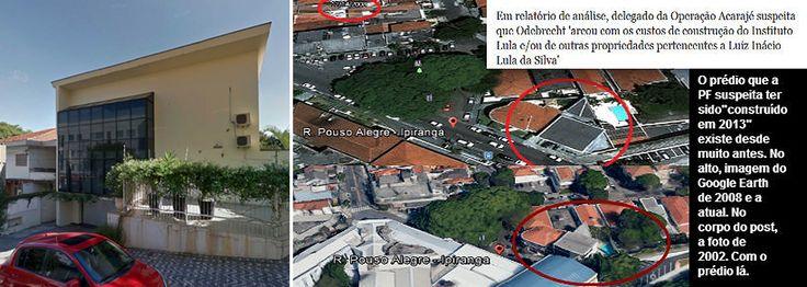 """Jornalista Fernando Brito, do Tijolaço, critica relatório da PF que indica que a rubrica """"Prédio (IL)"""" em uma mensagem de 2013 da Odebrecht pode levar à conclusão de que a empreiteira bancou a construção da sede do Instituto Lula; o prédio localizado no Ipiranga, zona sul de São Paulo, porém, existe desde 2002; """"Com este grau de irresponsabilidade, que tipo de credibilidade podem merecer 'investigações' policiais tratadas desta maneira leviana? São estes os 'gênios' a que repórteres tão…"""