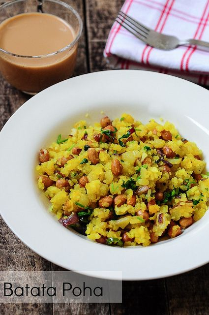 Potato Poha-Batata Poha Recipe - an easy indian breakfast