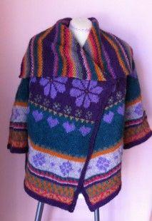 veste tricotée main pure laine  : Manteau, Blouson, veste par les-ficelles-picardes sur ALittleMarket