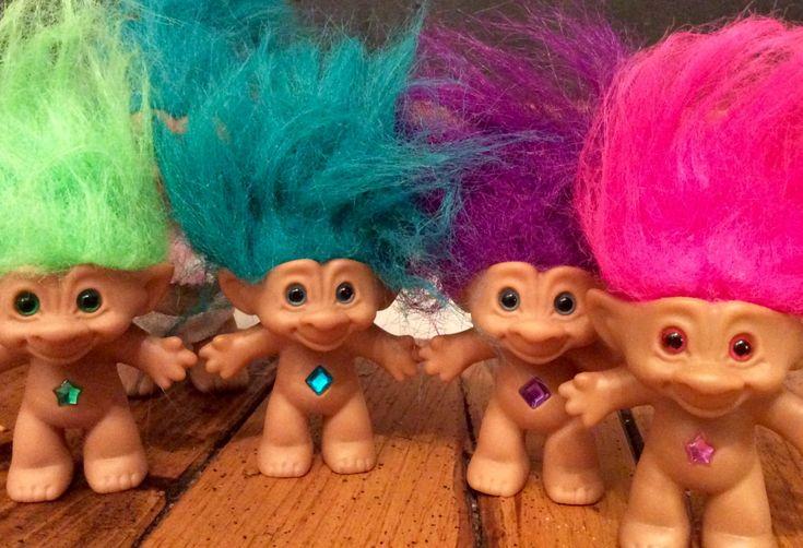 1990's Treasure Trolls Set of 4+, Vintage Trolls, Treasure Troll Doll, Ace Novelty Trolls, Gem Trolls, Troll,Troll Dolls, Ace Trolls, Trolls by Lalecreations on Etsy
