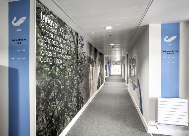 Park School, Bournemouth |  Park Community School is a newly re-built secondary school serving the community of Havant in Hampshire.  We #produced and #installed #wallpaper #graphics to #walkways, and #corridors, #dichroic #vinyl, #external facing #glazing images and wall #signage and directories.  Design by SoVibrant