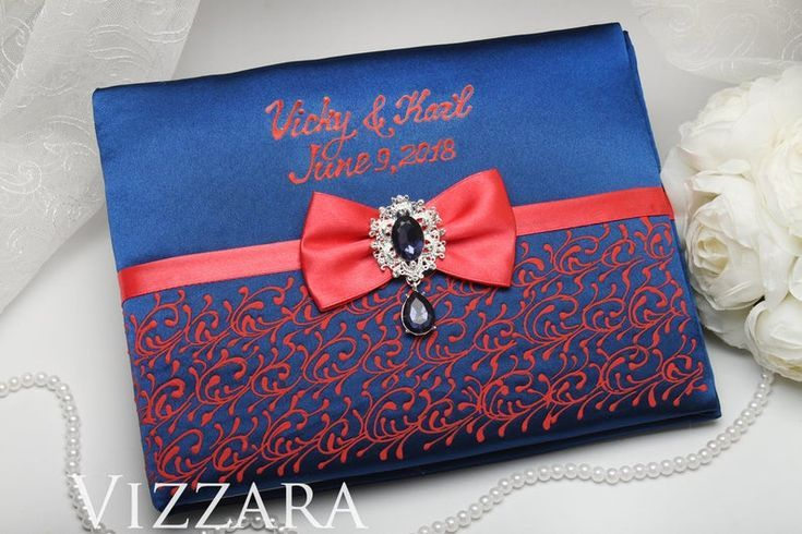 Wedding guest book Navy wedding Personalized wedding guest book Coral and navy wedding Modern…