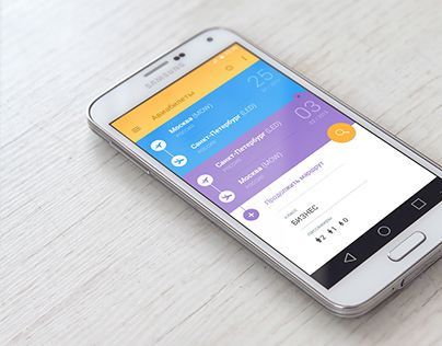 Android Material Design UI for Flights Booking App