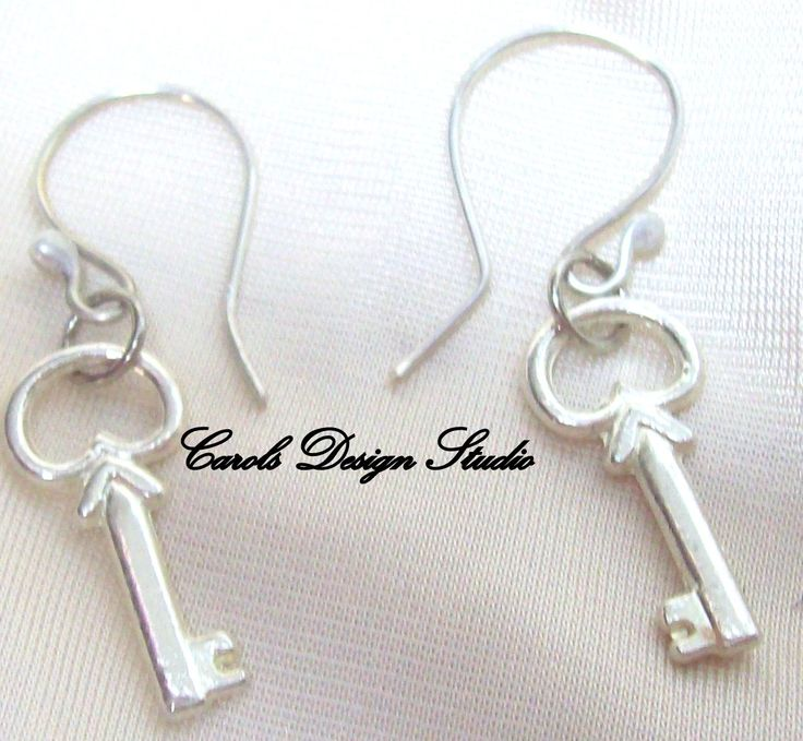 Key to My Heart dangling from a handmade ear wire is lovely #etsy #handmade #design #gifts