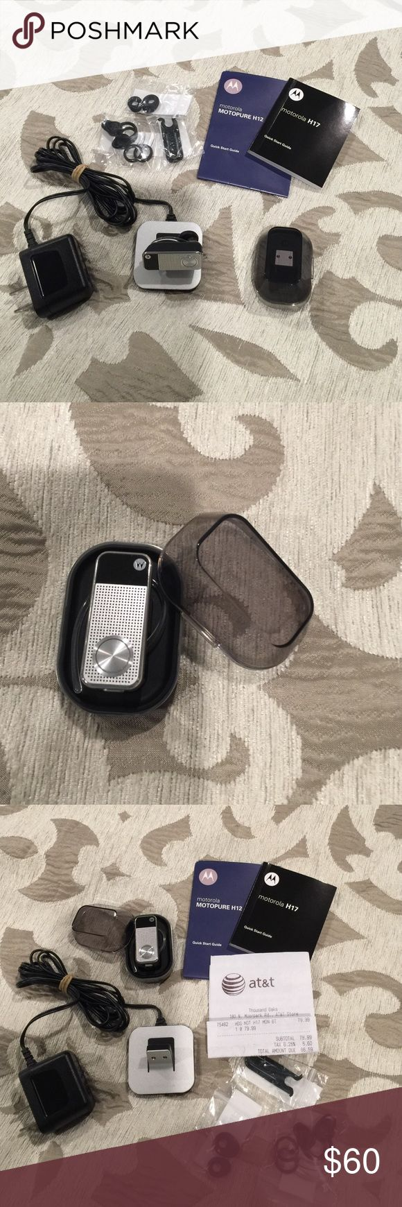 Motorola H17 Bluetooth Motorola H 17 Bluetooth complete with storage case, accessories, never been opened brand-new Motorola Accessories Phone Cases