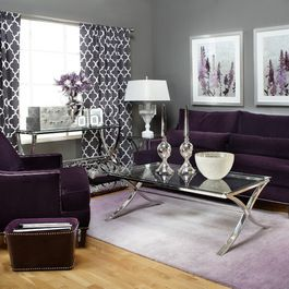 Purple Living Room Design Ideas, Pictures, Remodel, and Decor