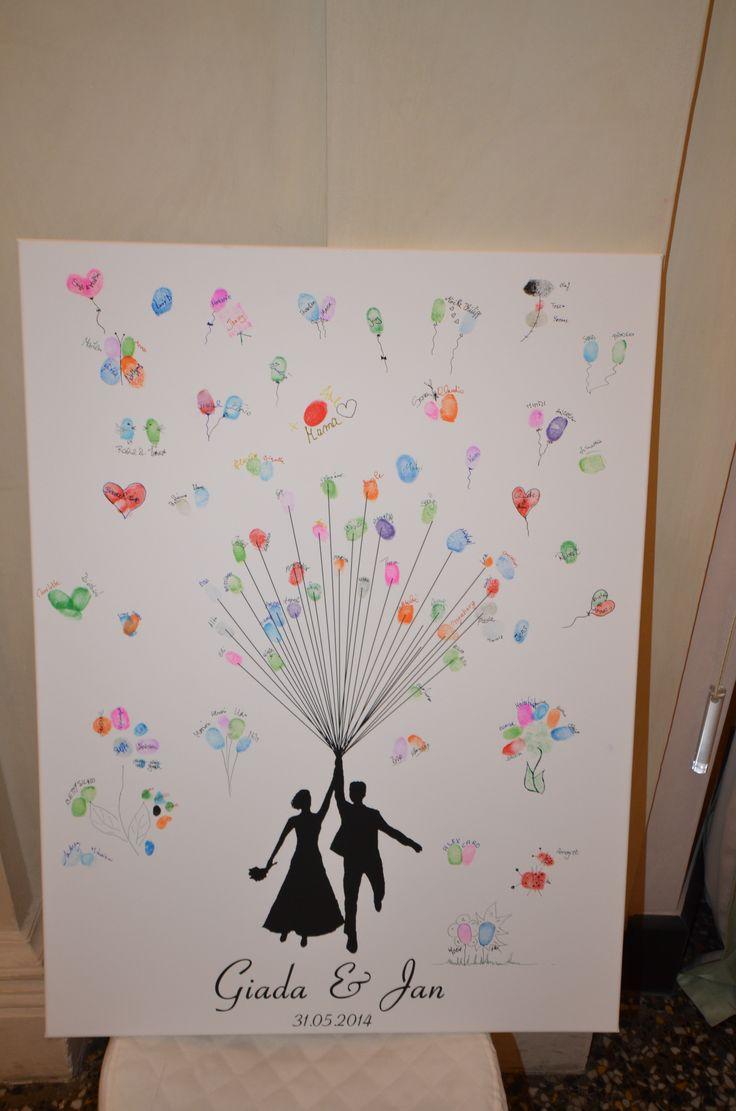 Le impronte degli invitati formano un quadro che ricorderà per sempre una giornata speciale!  Sala Neoclassico - Palazzo della Meridiana