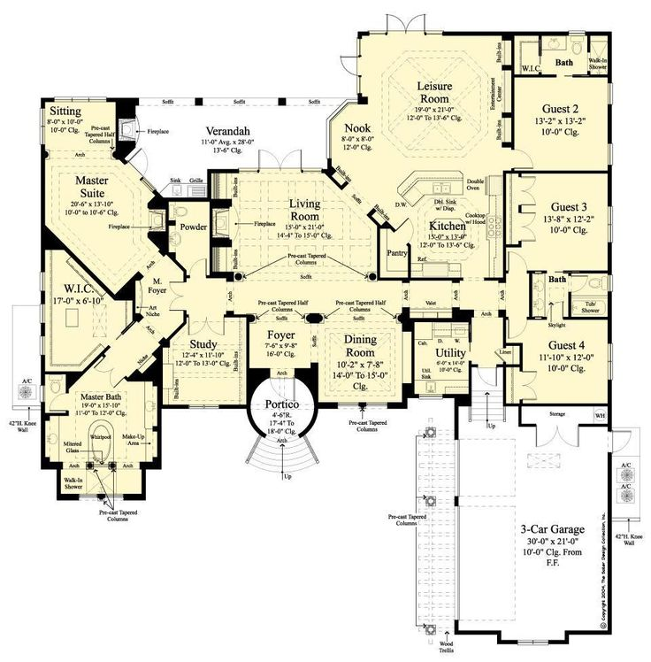 368 best Luxury Home Plans - The Sater Design Collection ...