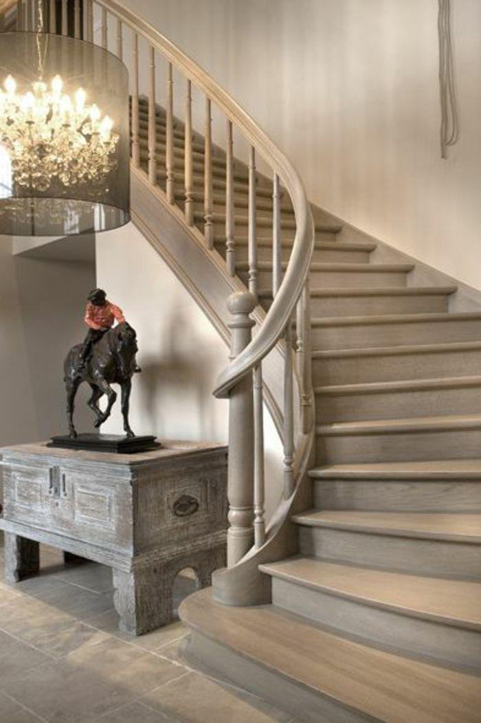 quel type escalier quart tournant pas cher pour lentree dans la maison moderne avec escalier en
