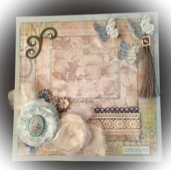 Premade Shabby Chic Scrapbook Layout. by RuthsReminisings on Etsy, $19.99