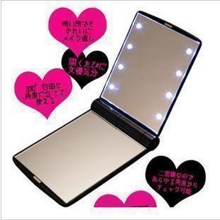 8 LED folding compact mirror great for diy bling phone deco  | chriszcoolstuff - Craft Supplies on ArtFire