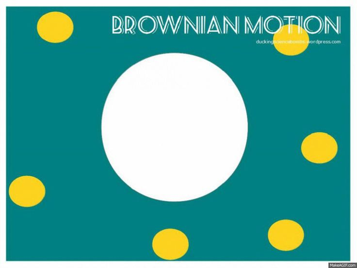 A model illustrating brownian motion.  Or as a student once wrote:  Brownie in motion.