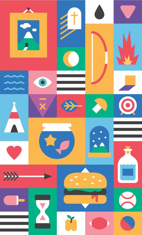 Art | icons by Tyler Dale, via Behance