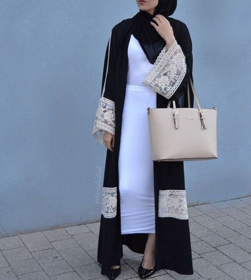 0+ lace style abaya and hijab for girls