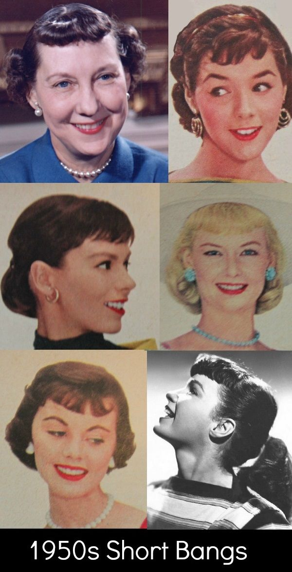 1950s Hairstyles Bangs Or Fringe In The 50s 1950s Hairstyles Vintage Hairstyles For Long Hair 50s Hairstyles