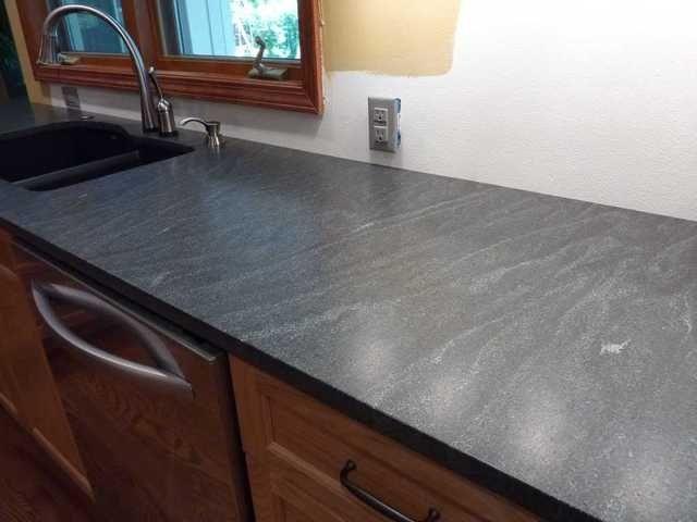 Honed Jet Mist Granite Outdoor Kitchen Countertops