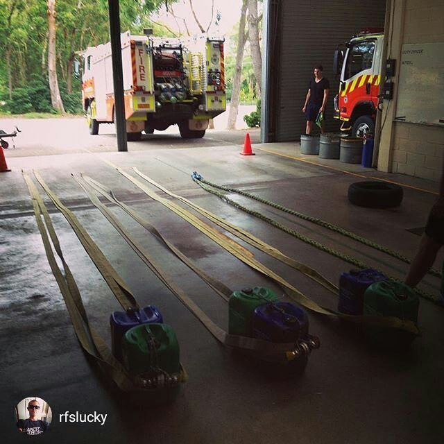 TRAIN HARD DO WORK   #Repost@rfslucky Battle hoses were introduced to the crew during tonight's fitness session. 4x tabata rounds with 10 exercises to choose from. #fireseason2015 #nswrfs #nswrfsinsta #medowiefire #bushfire #australia __________________________________________ 555 Fitness is a Firefighter driven and operated non-profit organization. Our goal is to reduce the leading killer of firefighters cardiac related events. We do this by providing free workouts nutritional advice and…