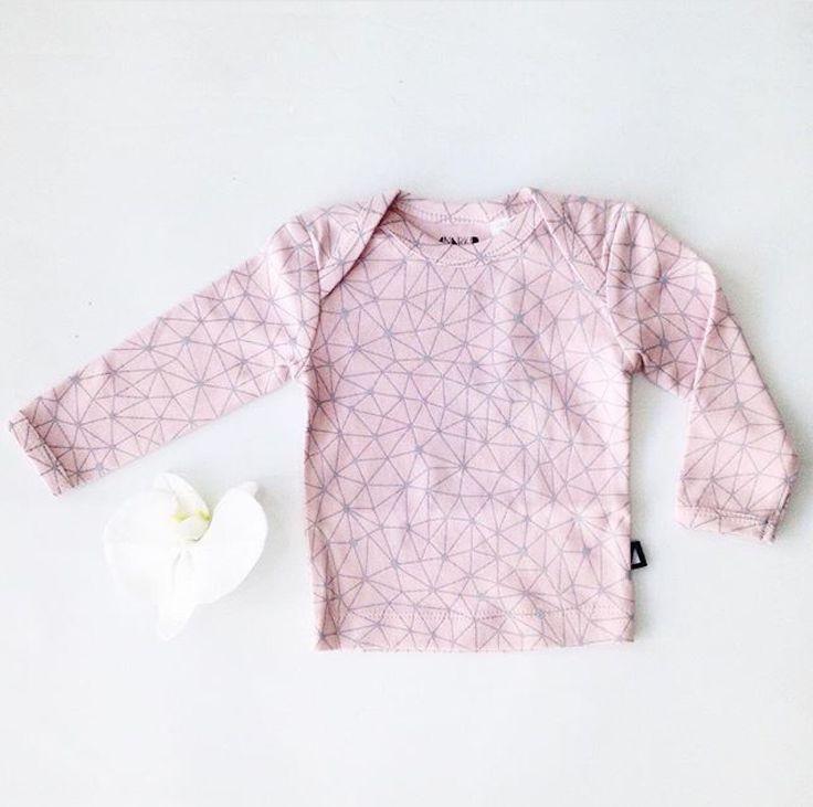 ANARKID- Galaxy Long Sleeve Tee in Pink