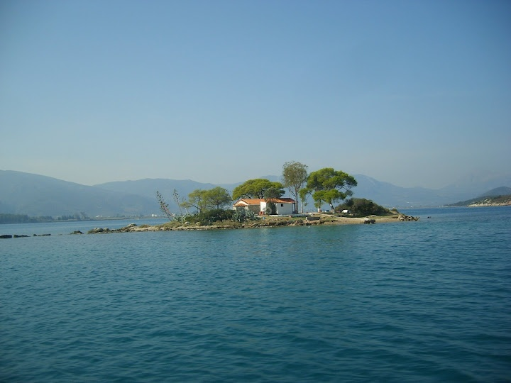 More from Greece! Small island in the Aegean Sea. Spotted from the water taxi en route to Poros.