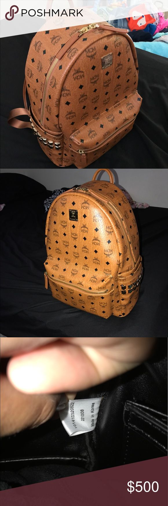 Mcm stark backpack Got a mcm stark backpack in great condition this is the latest version of the bag retail about $790 but letting go for a cheaper price since I've used it do not ask questions that are waste of time if you have a offer send it thru the offer yes it's authentic comes with the care cards I lost the dust bag when i was moving this will sale fast price asking $500 MCM Bags Backpacks