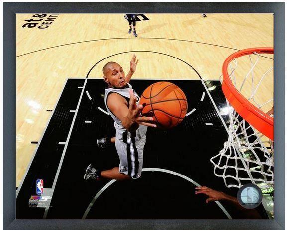 Boris Diaw 2013-14 San Antonio Spurs-11 x14 Photo in Glassless Sports Frame